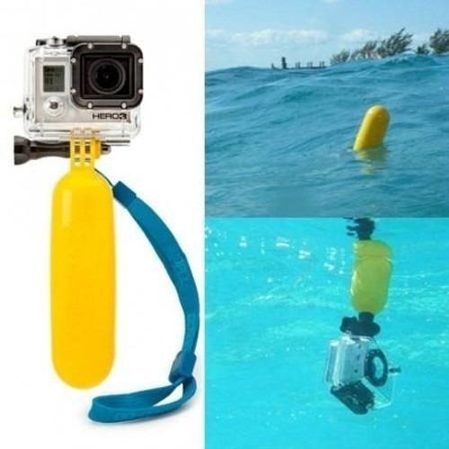 Bastão Flutuante Flutuador De Mão Amarelo Para Gopro E Sjcam