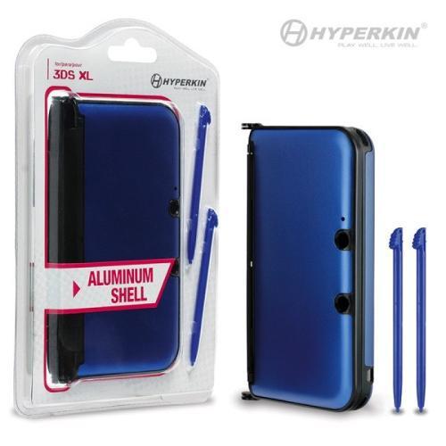 Capa de Plástico com detahes de Alumínio para 3DS XL - Azul
