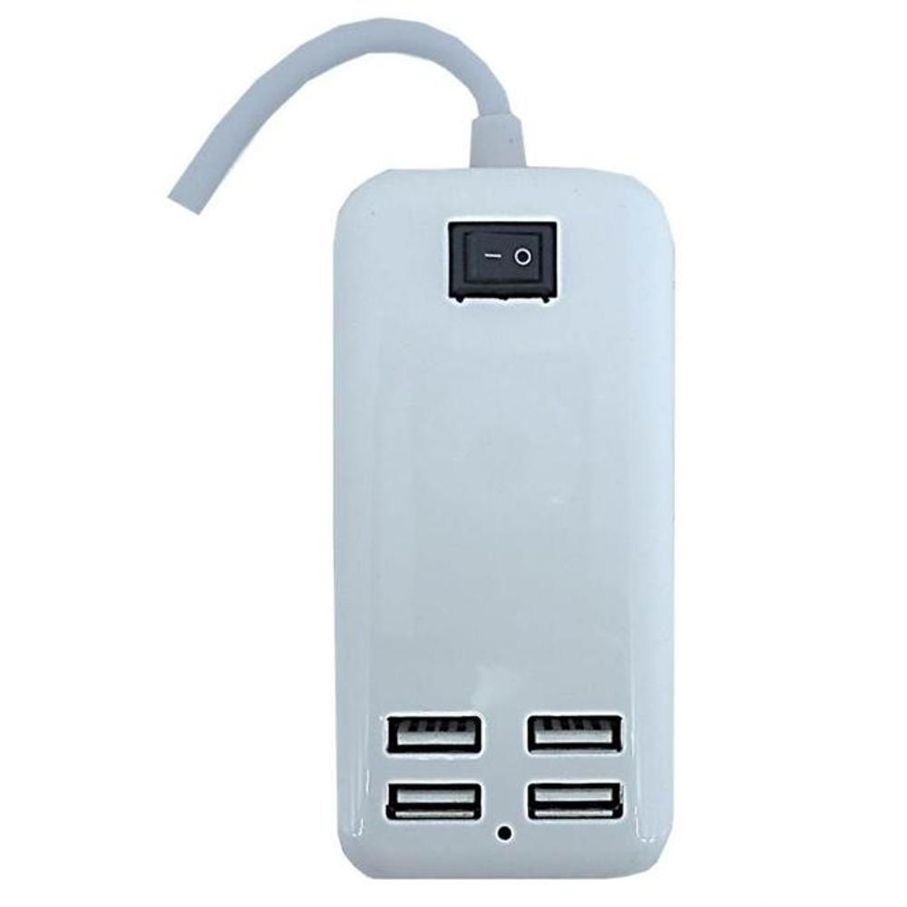 Hub Usb 4 Portas Extensão Eletrica 15w Carregador Bivolt