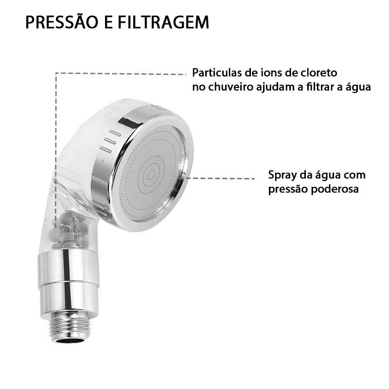 Kit Chuveiro Manual Flexível para Torneiras