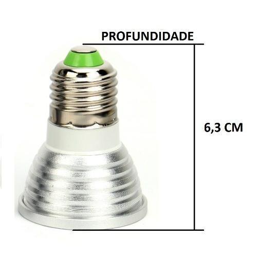 Lâmpada Led 3w Rgb 16 Cores 3 Funções Com Controle Remoto E-27