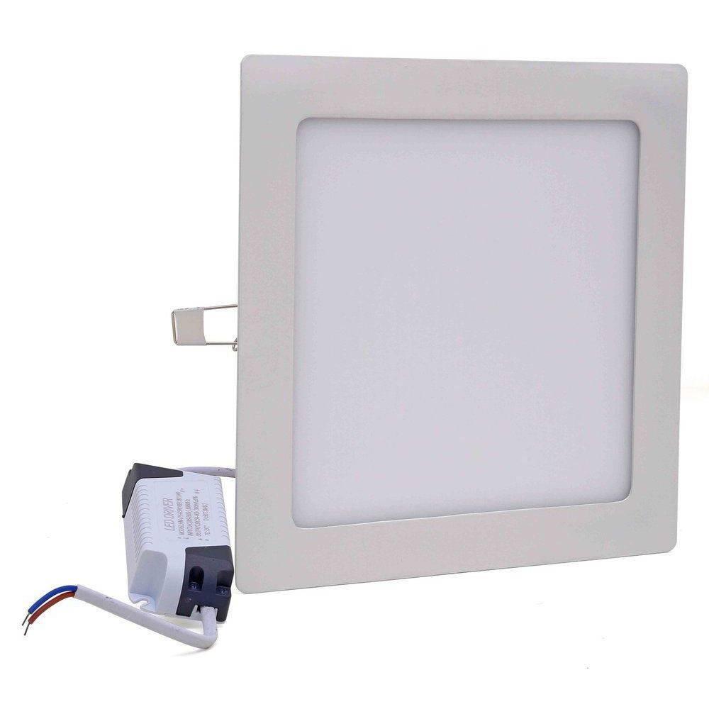 Painel Plafon Luminária Led Quadrado Embutir Slim 18w 6500k Branco Frio