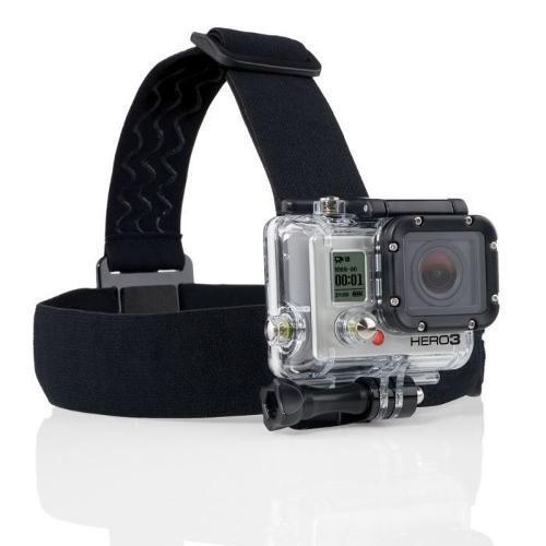 Suporte Faixa De Cabeça Para Câmeras Gopro E Sjcam