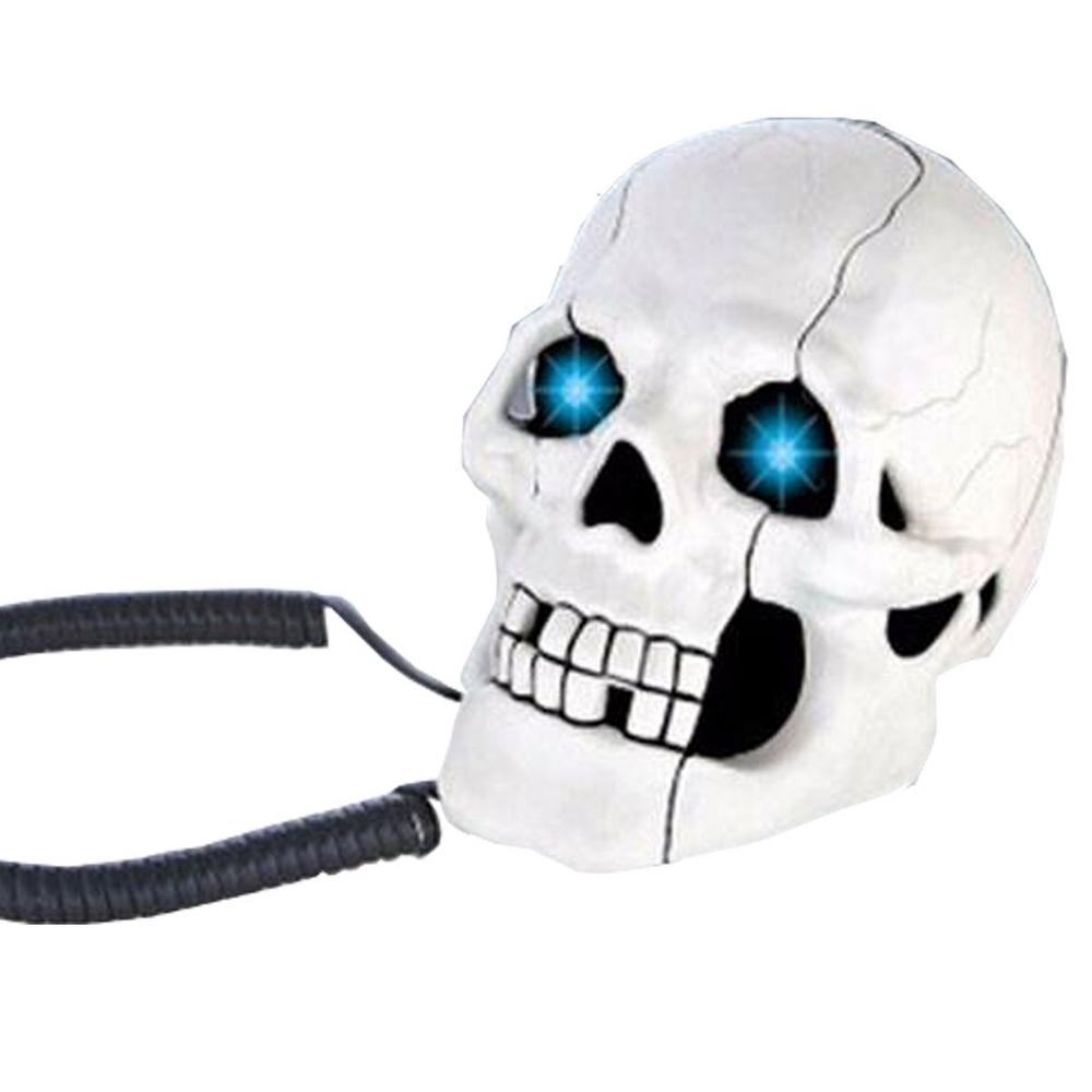 Telefone Formato Caveira C/ Fio Branco Ar-5053