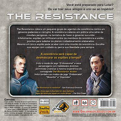 The Resistance - Jogo de Tabuleiro - Galapagos