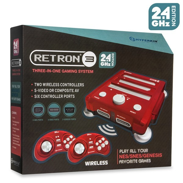 Video Game RetroN 3 em 1 - Nintendinho Super Nintendo e Mega Drive
