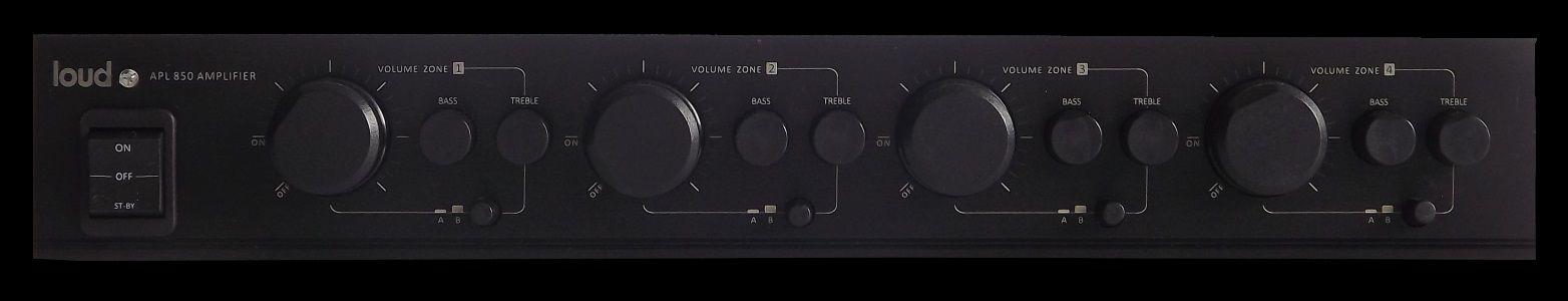 Amplificador Multiroom Stéreo 400w 4 zonas LOUD APL 850