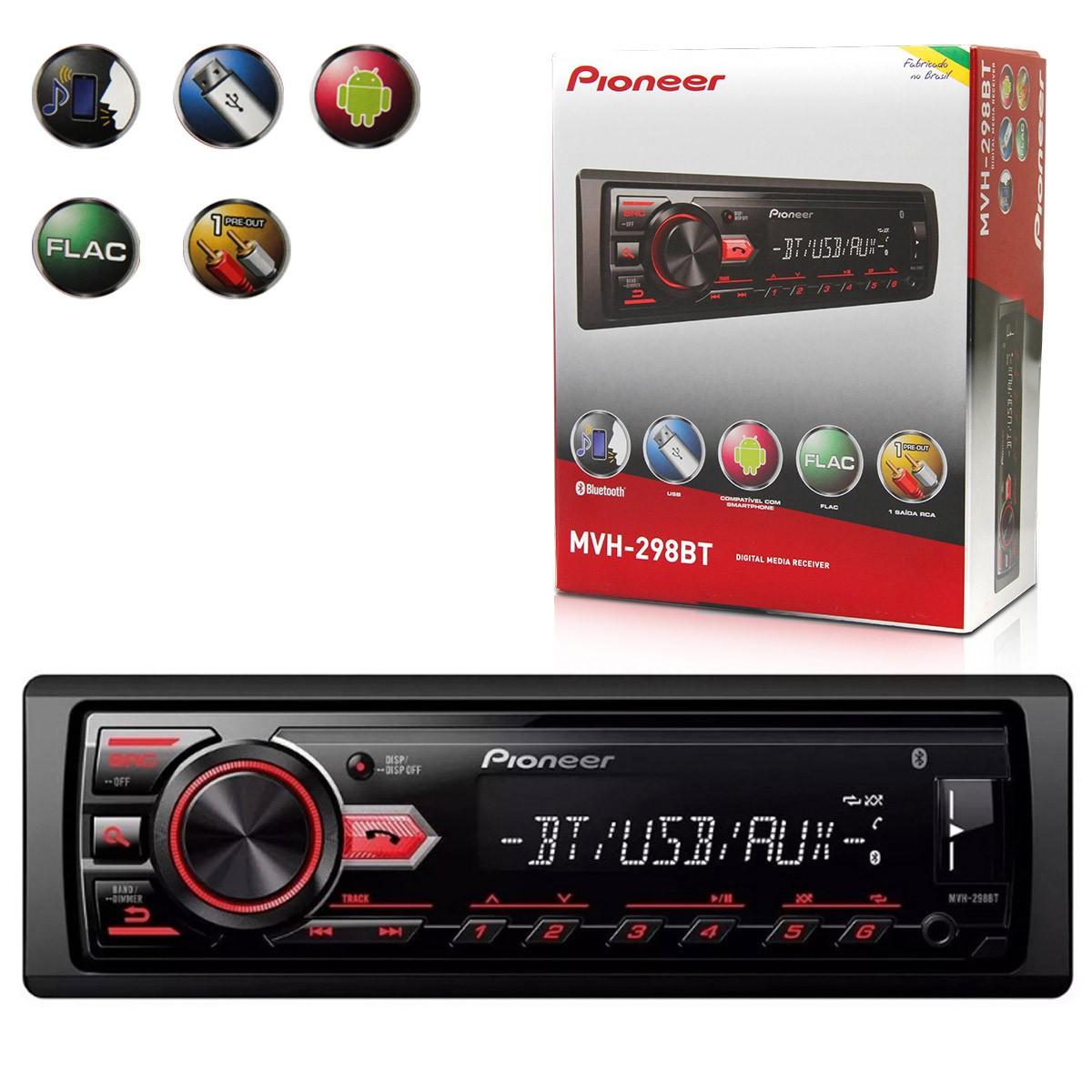 Auto Rádio Pioneer MVH-298BT
