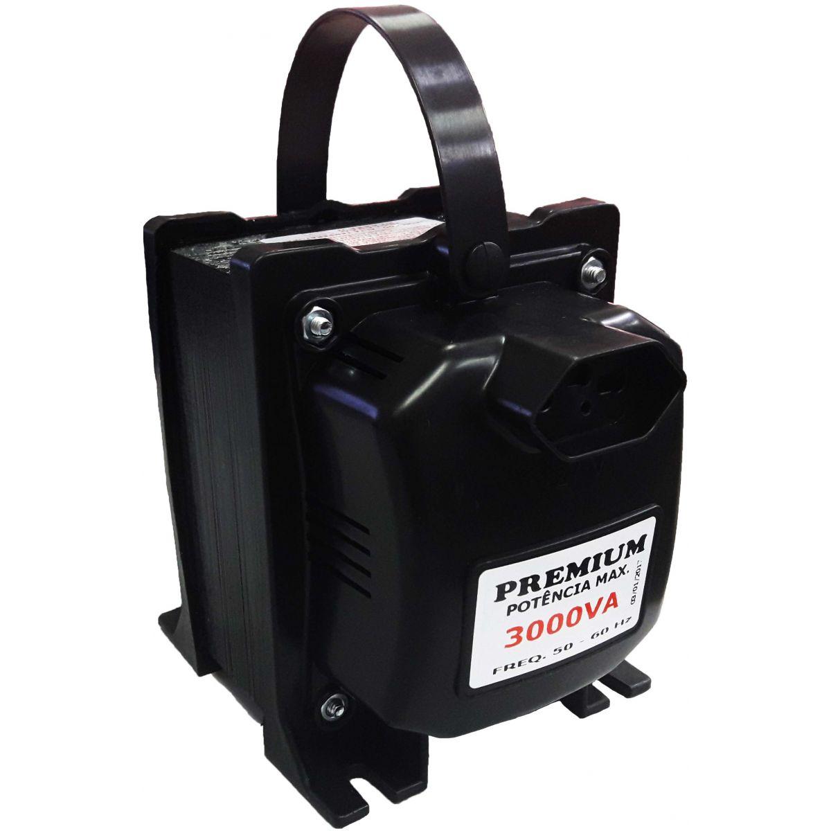Transformador Fiolux Premium Tripolar 3000VA Bivolt 110/220 e 220/110 Ref: 3000 VA