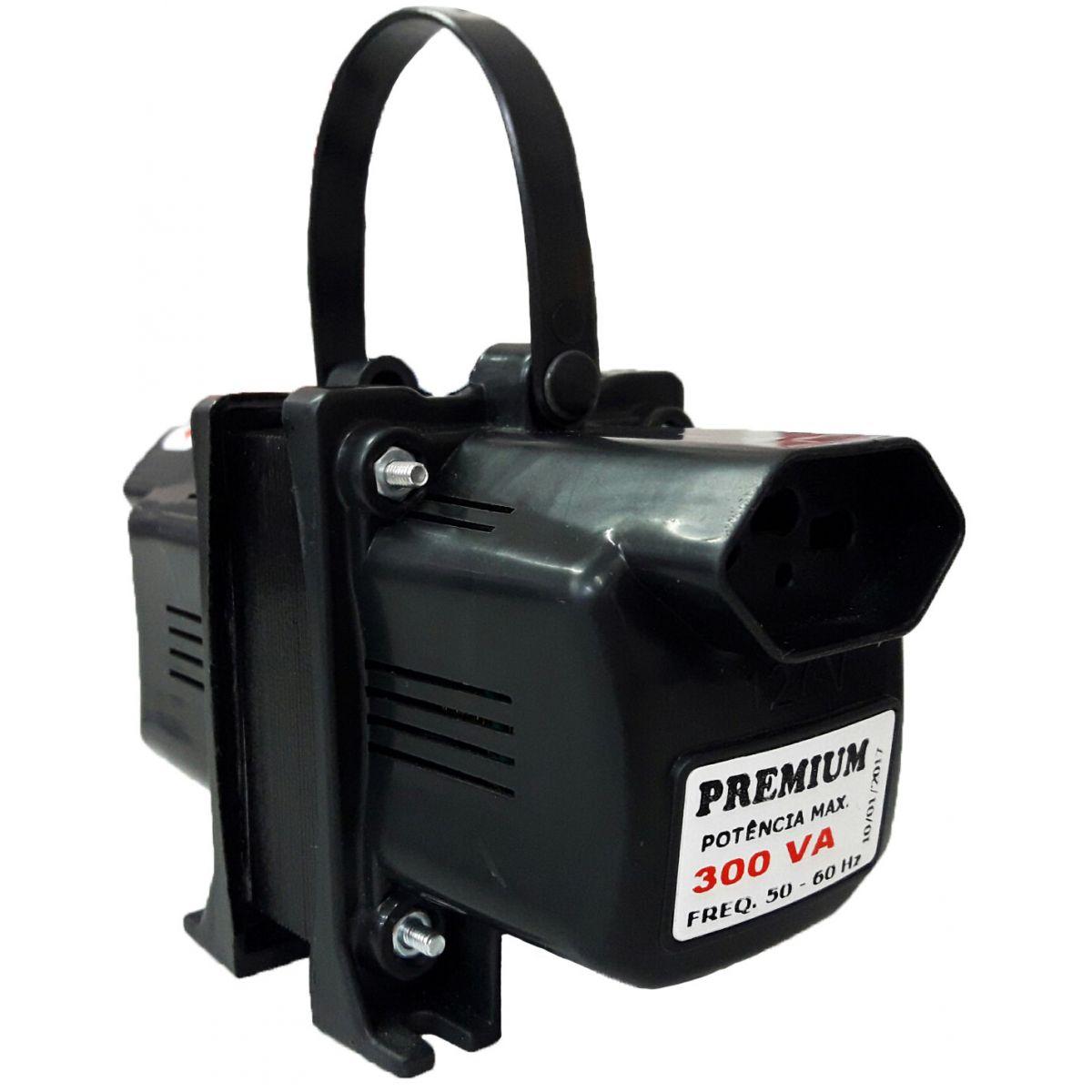 Transformador Fiolux Premium Tripolar 300VA Bivolt 110/220 e 220/110 Ref: 300 VA