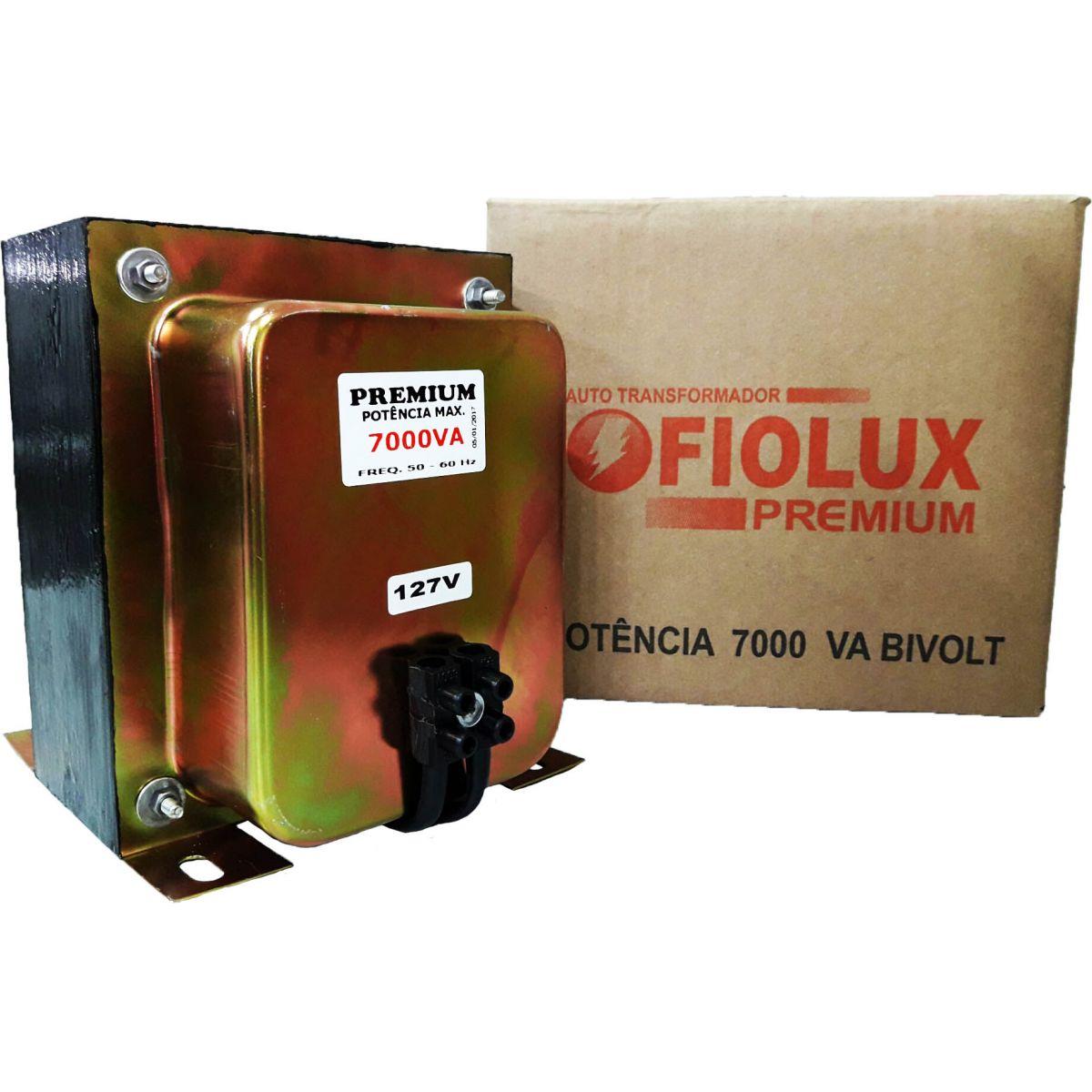 AUTO TRANSFORMADOR FIOLUX PREMIUM 7000 VA BIVOLT
