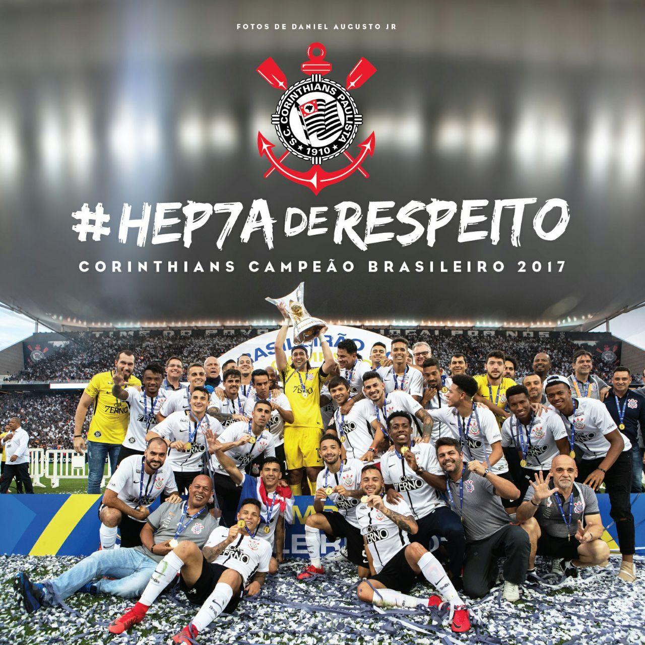Livro #HEP7AdeRESPEITO + Evento de lançamento no Memorial do Corinthians