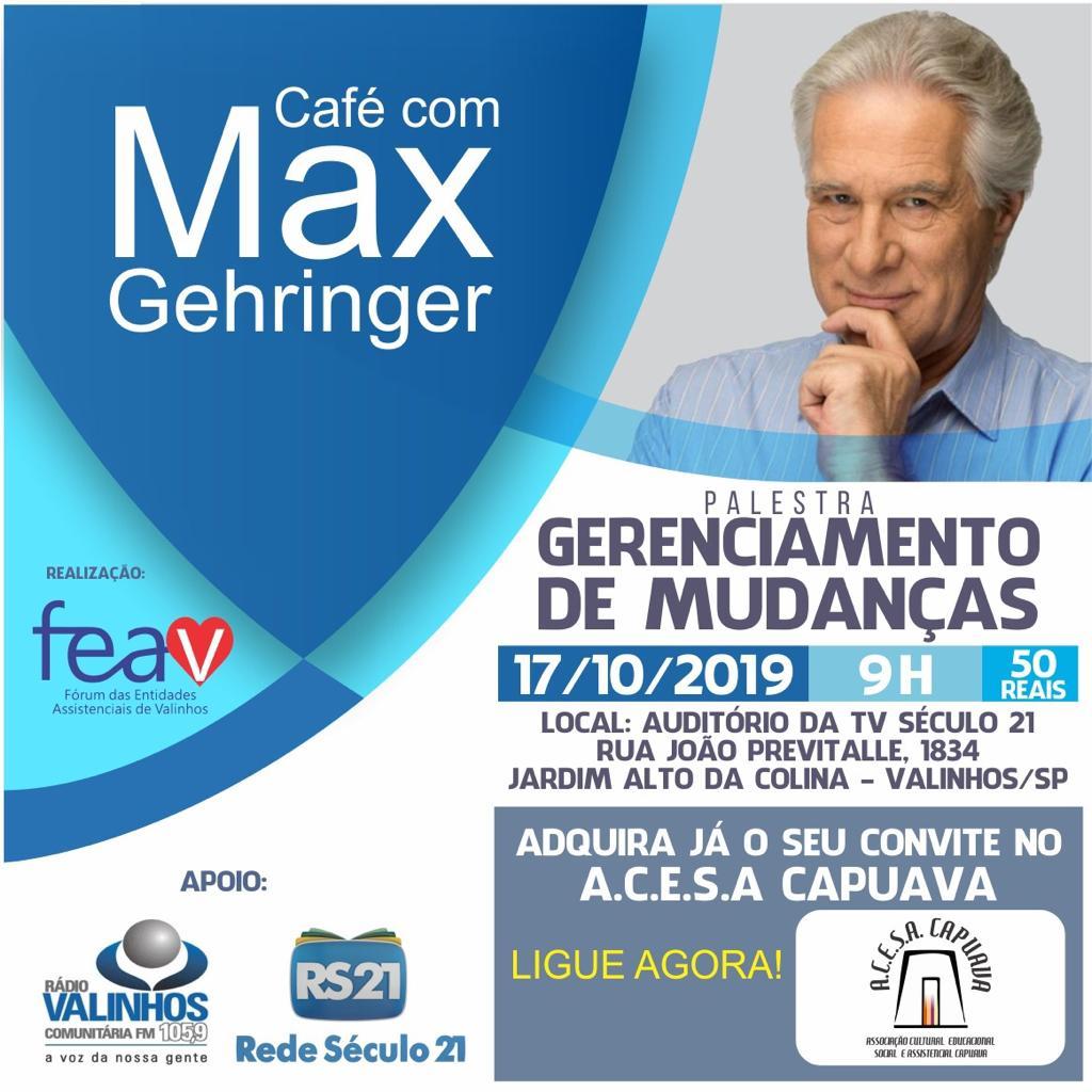 Palestra Solidária Max Gehringer - Gerenciamento de Mudanças