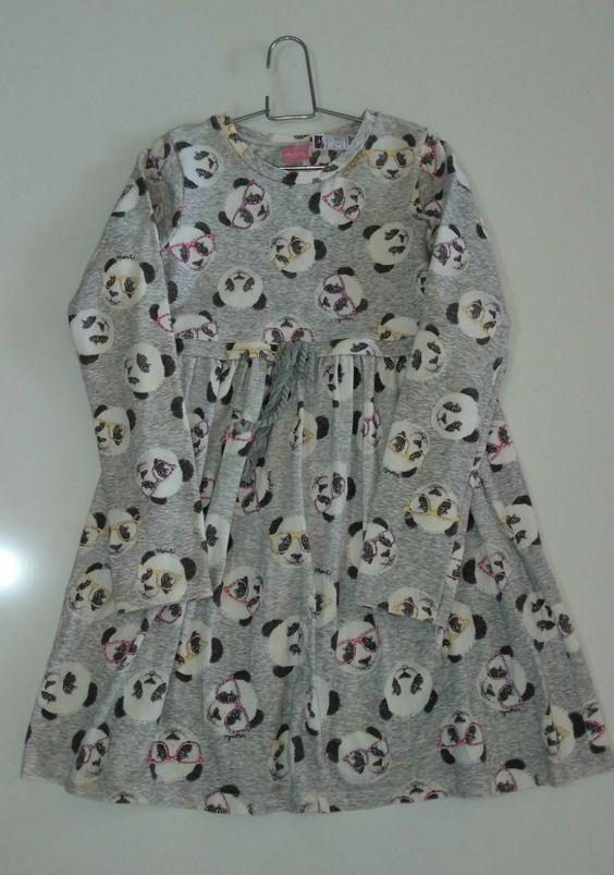 Vestido de moletom manga longa - Momi - Tamanho 12