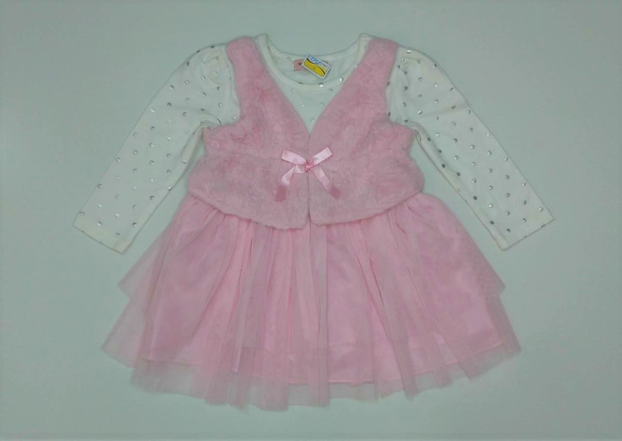 Vestido Infantil Manga Longa - Tamanho 2