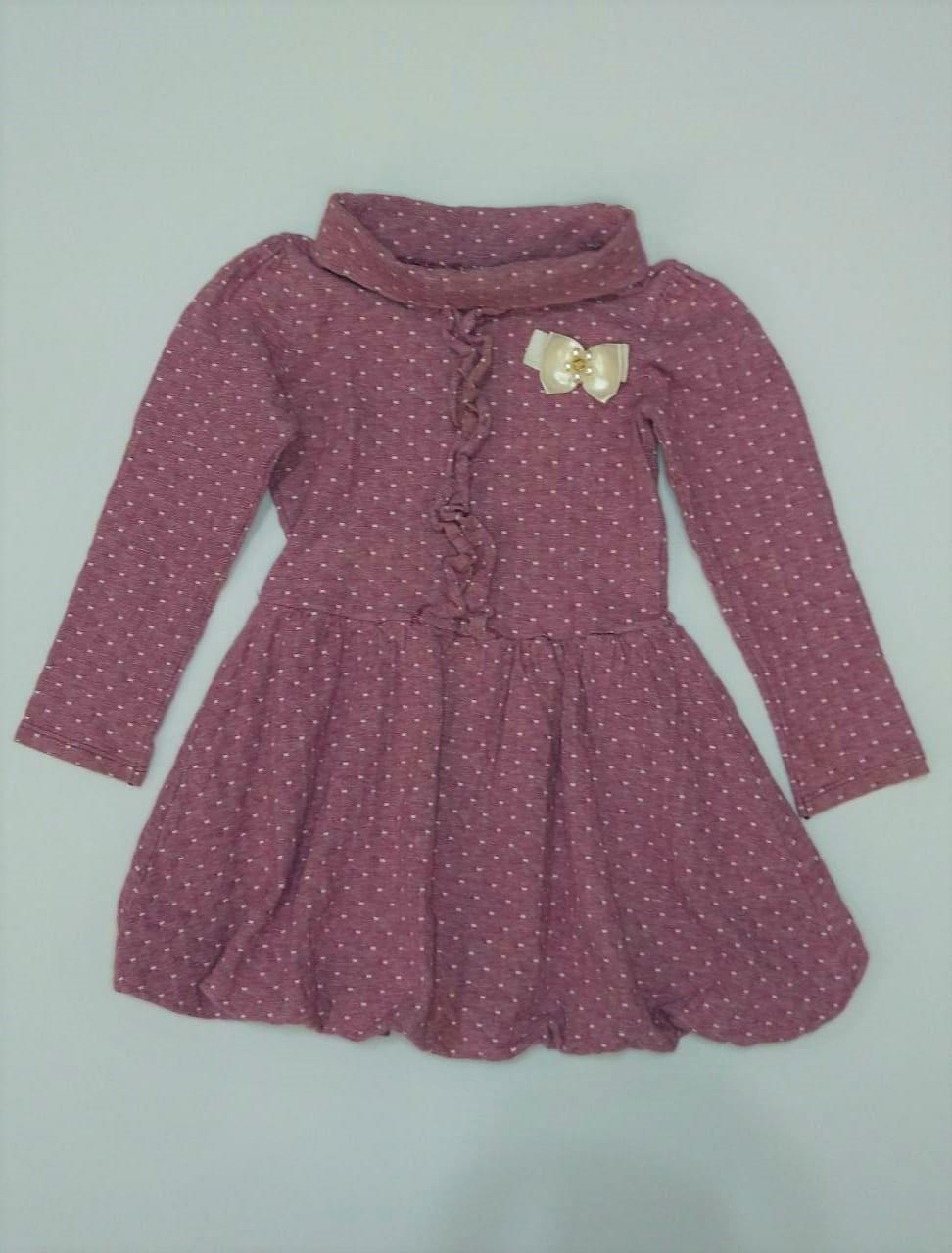 Vestido Infantil Manga Longa - Tamanho 4