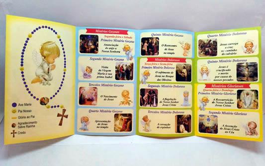 Pacote Especial de Terço Infantil com folheto explicativo