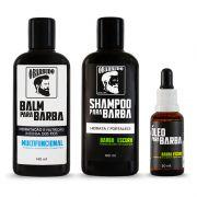 Trio Barba Escura   Shampoo + Balm + Óleo