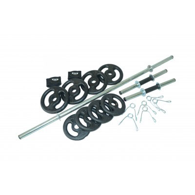 2da450c2c Kit 4 - 30 Kg De Anilhas + Barras - Musculação - anilhas e cia
