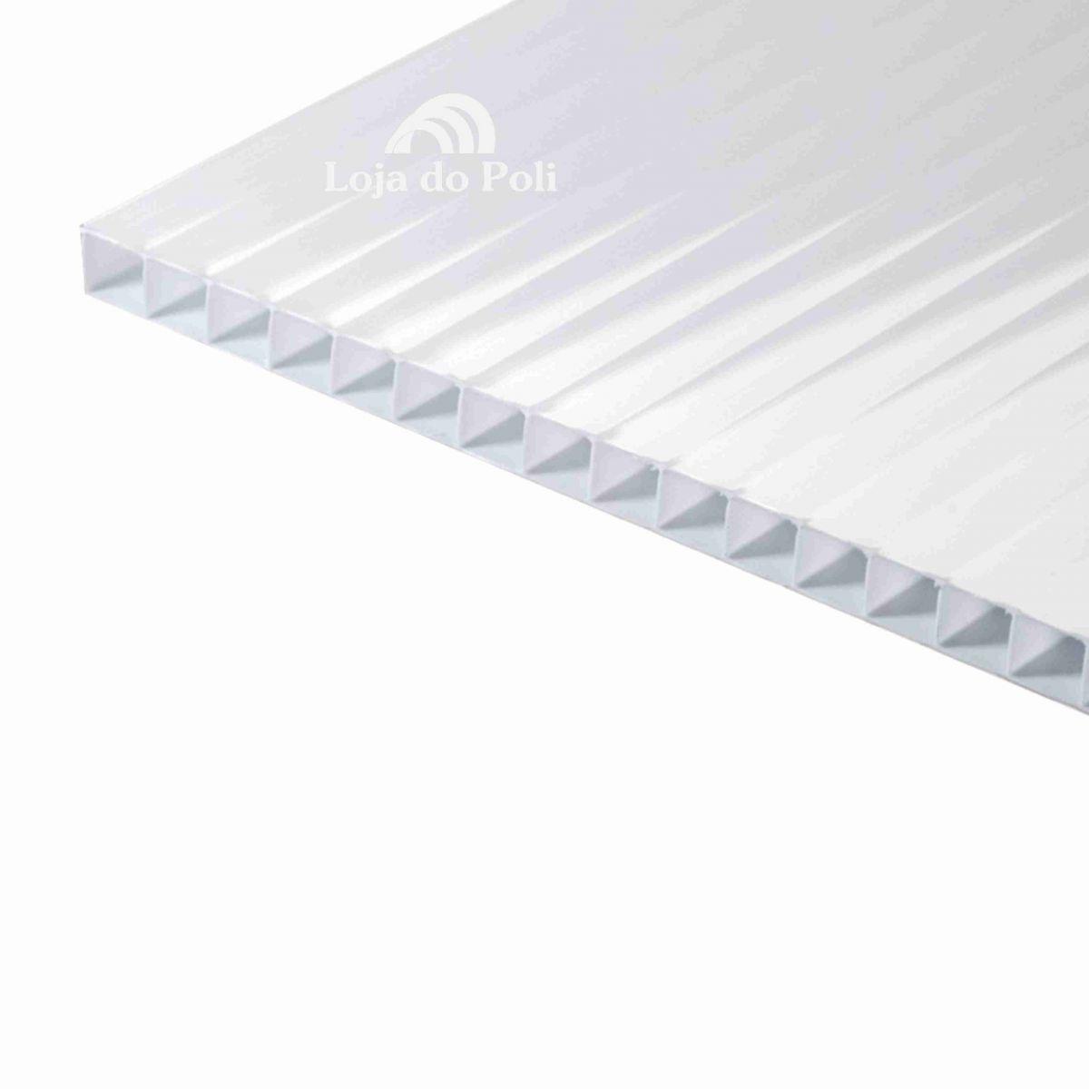 Chapa Policarbonato Alveolar Pérola Solar Reflective 6mm 1,0x6,0m