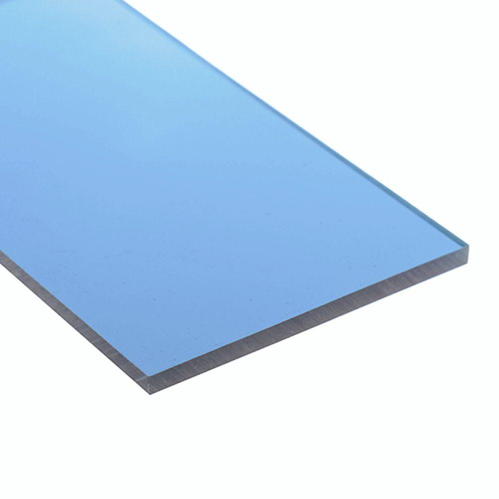 Chapa Policarbonato Compacto Azul 4mm 2,0x3,0m