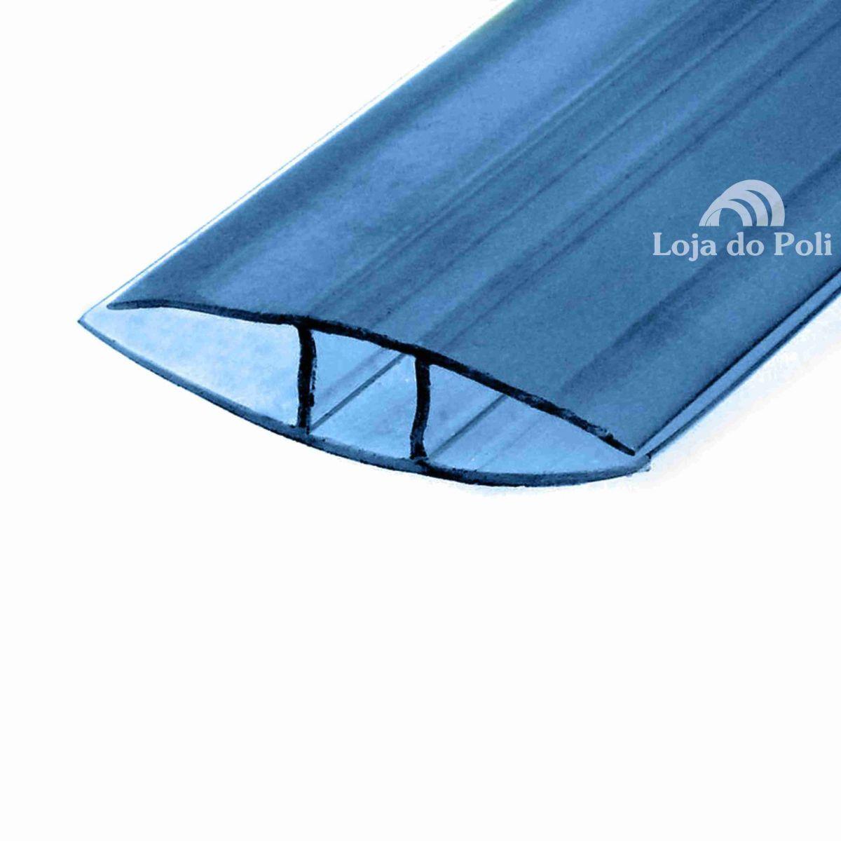 Emenda Rápida Azul Para Policarbonato 4 / 6 ou 10mm - 6 Metros