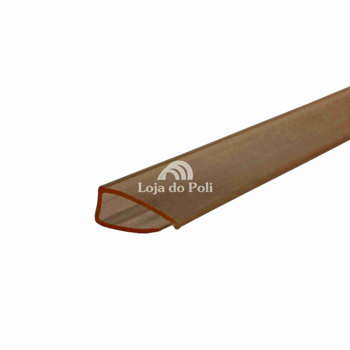 Perfil De Acabamento Bronze Para Policarbonato 4 / 6 ou 10mm - 6 Metros