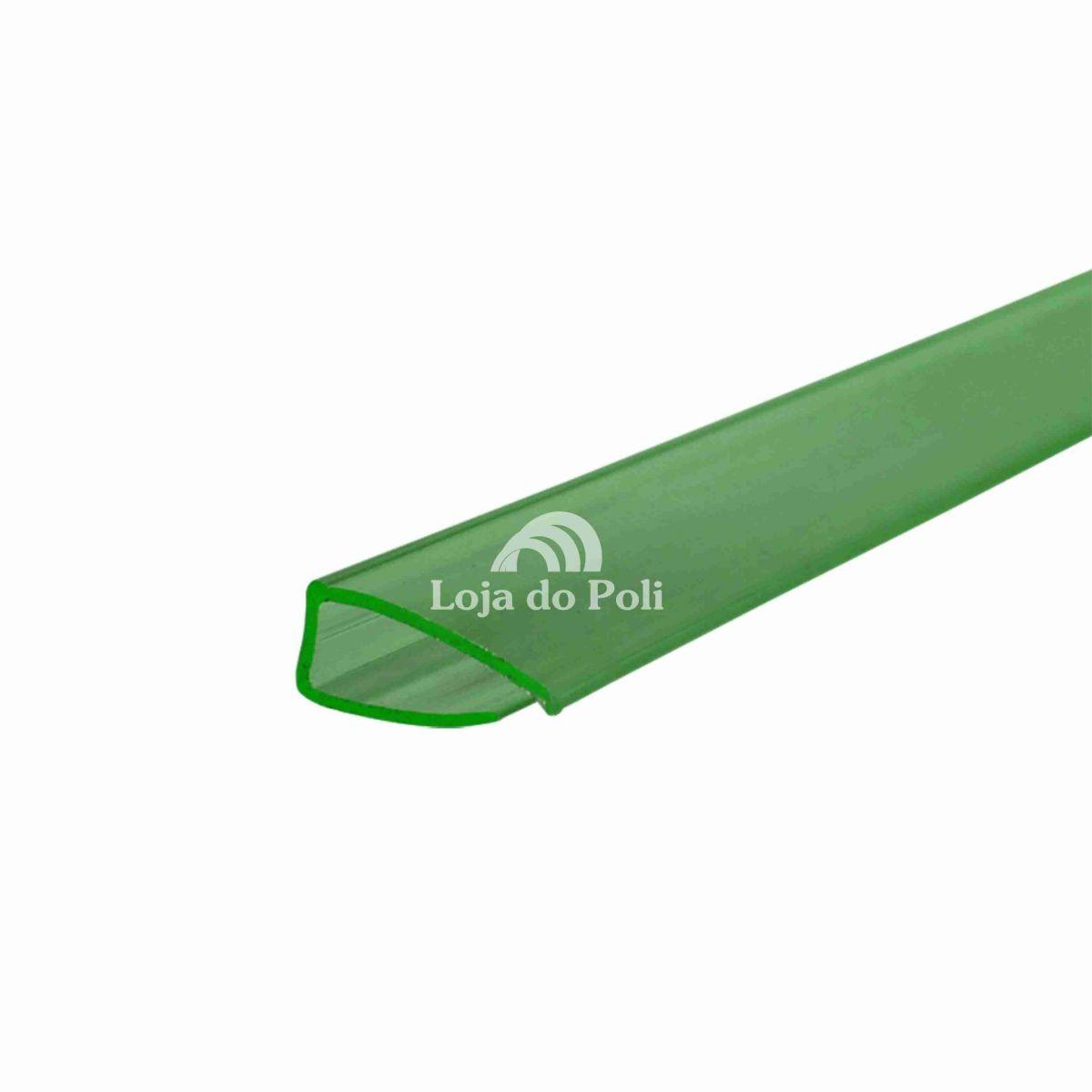 Perfil De Acabamento Verde Para Policarbonato 4 / 6 ou 10mm - 6 Metros