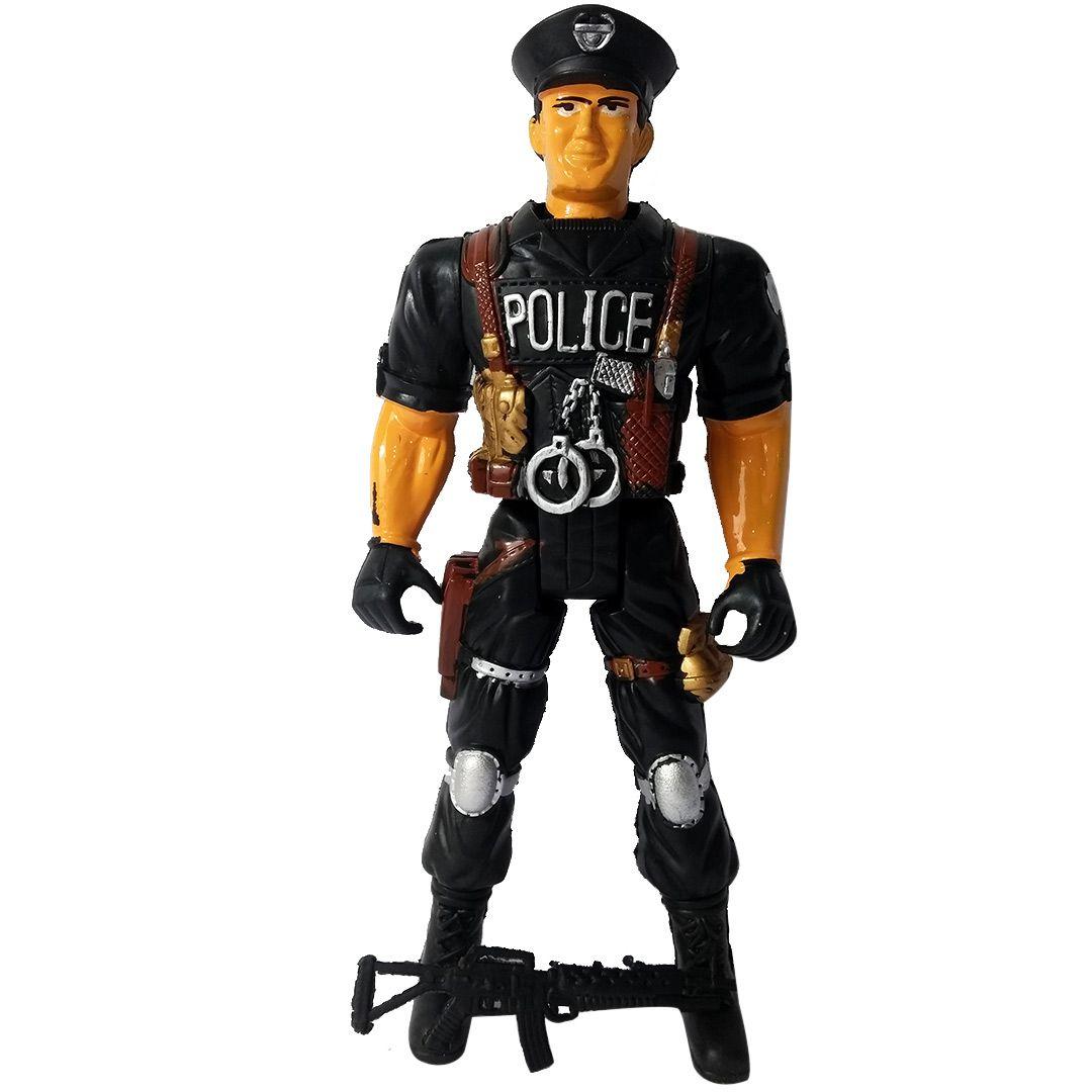 BONECO POLICIAL DE PLÁSTICO 39CM