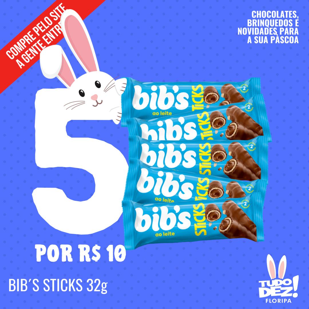 Kit com 5 Bibs Sticks 32 g