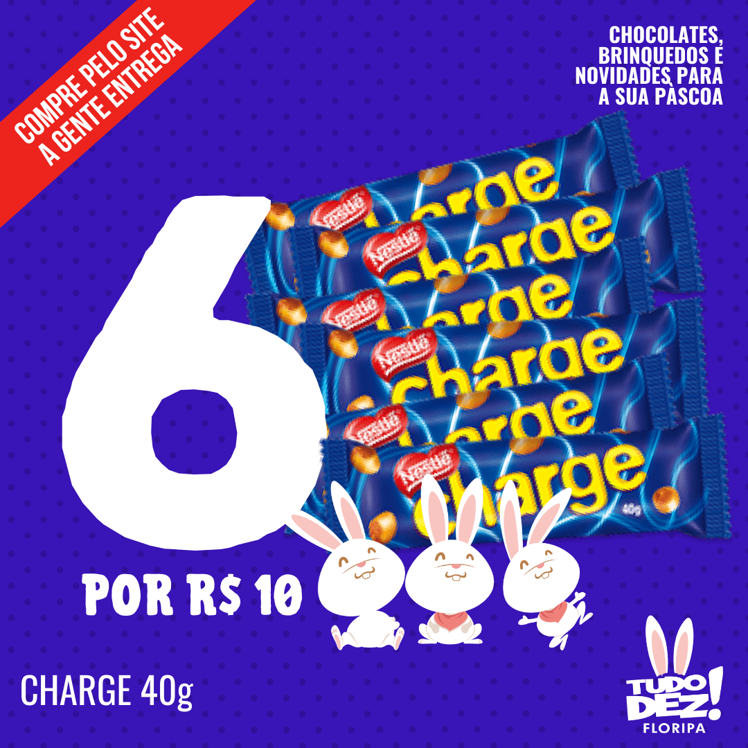 Kit com 6 chocolates Charge 40 g