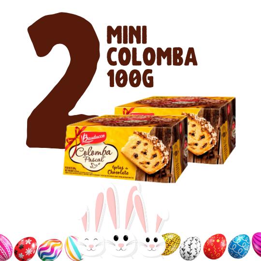 Kit Páscoa - 2 mini colombas 100g chocolate Bauducco