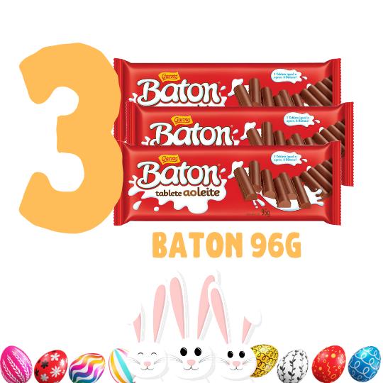 Kit Páscoa - 3 barras de chocolate Baton