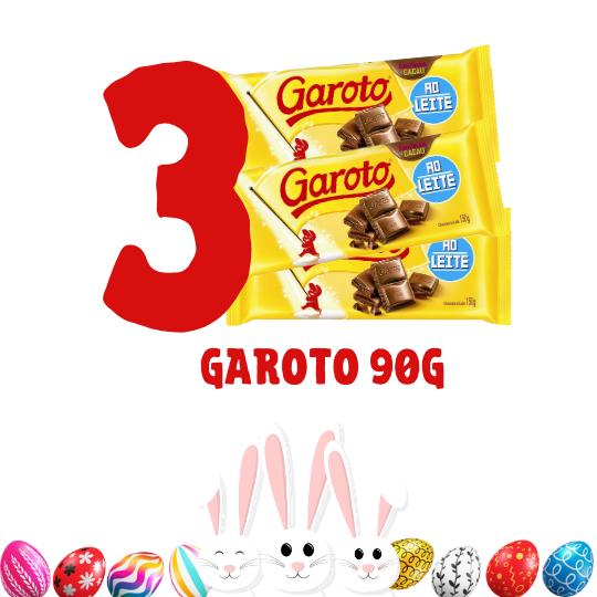 Kit Páscoa - 3 barras de chocolate Garoto