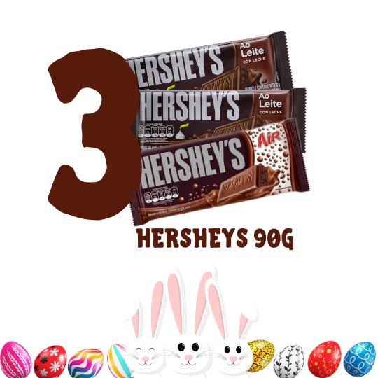 Kit Páscoa - 3 barras de chocolate Hersheys