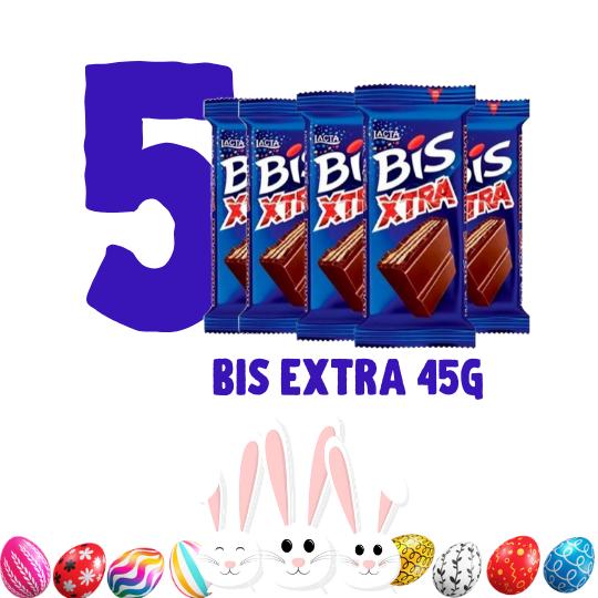 Kit Páscoa - 5 BIS Extra 45 g