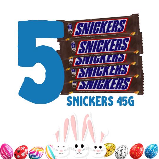 Kit Páscoa - 5 bombons Snickers