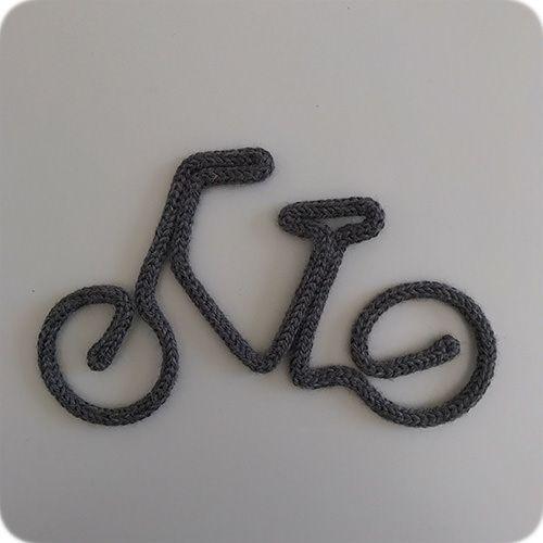 Enfeite de Bicicleta em Tricotin