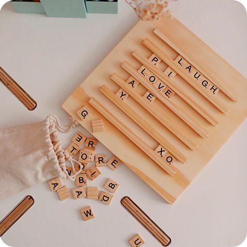 Letreiro Scrabble