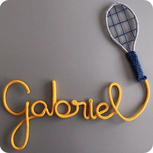 Nome com Raquete de Tênis