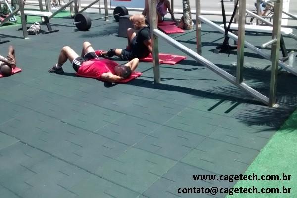 Piso emborrachado fitness - 20mm