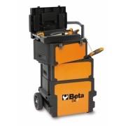 Carro para ferramentas tipo trolley com três módulos
