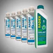 Kit 1 Radiex Biocoolant Verde Superconcentrado R1882 + 5 Águas Desmineralizadas