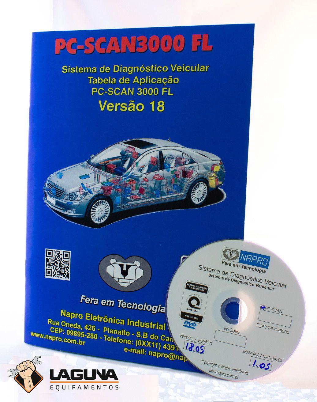 Atualização 18 scanner automotivo NAPRO PC-SCAN3000 USB versão 11,12, 13 e 14