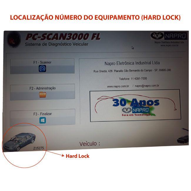 Atualização scanner automotivo NAPRO PC-SCAN3000 USB versão 14 e 15