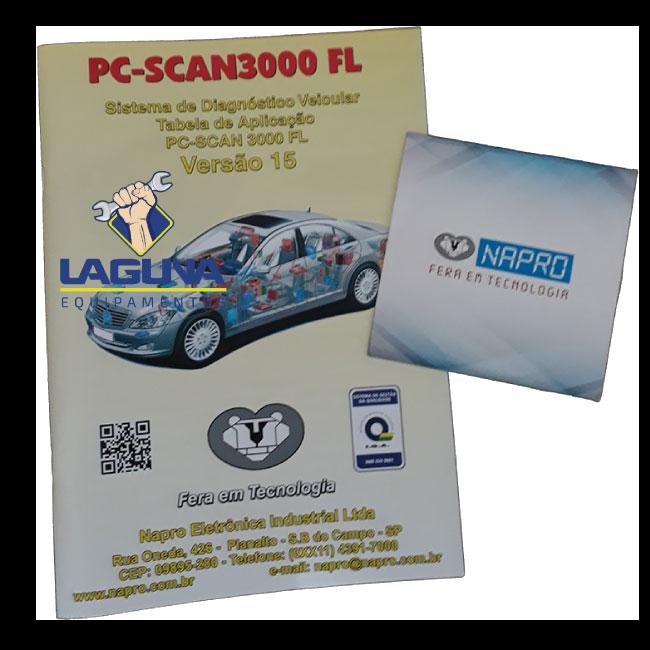 Atualização scanner automotivo NAPRO PC SCAN 3000 USB versão 1 até 10