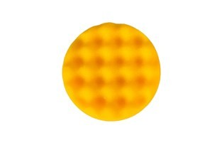Boina de espuma para polimento amarela Waffle MIRKA 85mm