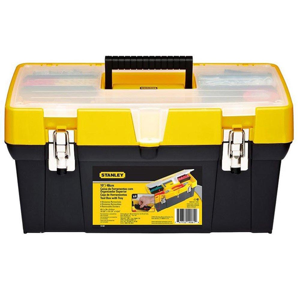 """Caixa de ferramentas 19"""" com tampa organizadora"""