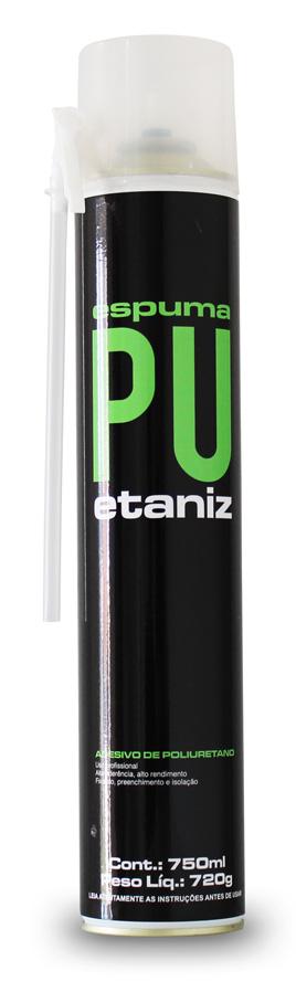 Espuma de Poliuretano Etaniz 720 gra/750 ml