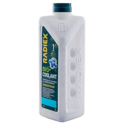 Aditivo Radiador - RADIEX Bio Coolant Azul Pronto Uso 1 Litro R-1893 - CAIXA COM 16 UNIDADES